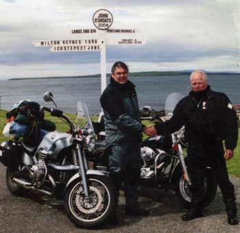 Mike Willis at John O'Groats